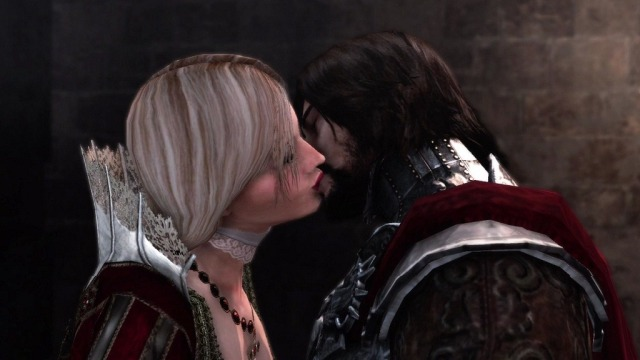 assassin's creed brotherhood cesare and lucrezia borgia kiss