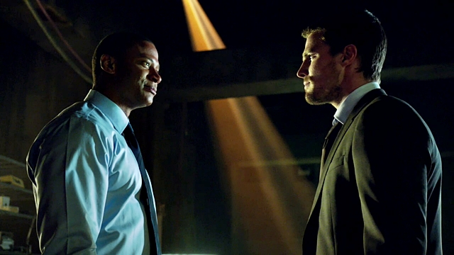 Arrow - Muse of Fire - M - Oliver Queen (6) - John Diggle