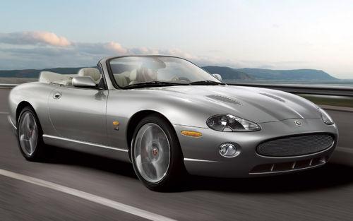 150 - silver jaguar convertible