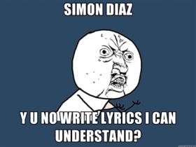 340 - simon diaz lyrics letras y u no meme