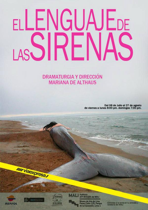 553 - Sergio Gjurinovic (11) - el lenguaje de las sirenas - teatro poster theater